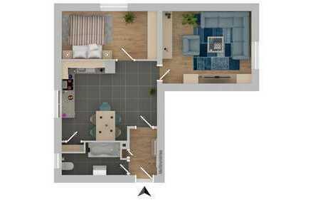 ++ GE-Bismarck: Super schöne und renovierte 2-Zimmer Wohnung ++