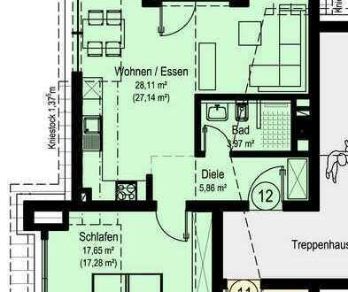 NEUBAU Schöne 2-Zimmer-Wohnung in Dörzbach (W12)