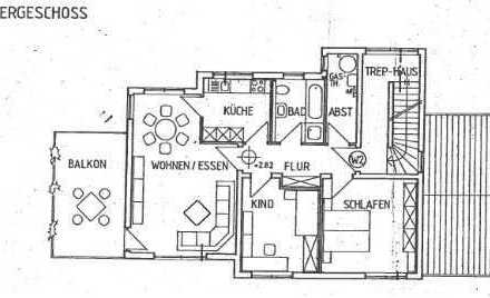 Günstige, neuwertige 3-Zimmer-Wohnung mit Balkon in Dalberg (Kreis Bad Kreuznach)