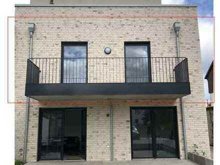 Reserviert___Erstbezug mit Balkon: freundliche 3-Zimmer-Wohnung in Rheine, KfW55-Standard