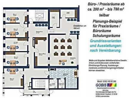 Lu City ab 4/2017 Büro-o. Praxisräume 280 bis 780 m² Modernisierung, Bürohaus nahe BERLINER PLATZ