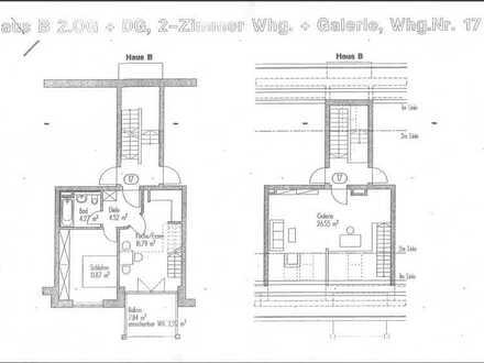 Stilvolle 2-Zimmer-Maisonette-Wohnung mit Balkon und EBK in Petershausen