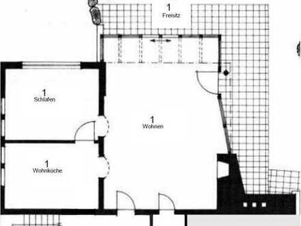 Große 2,5-Zimmer Wohnung mit Wintergarten und Kamin, neu saniert, in Weitnau