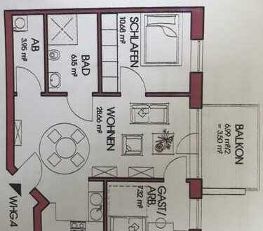 485 €, 60 m², 3 Zimmer