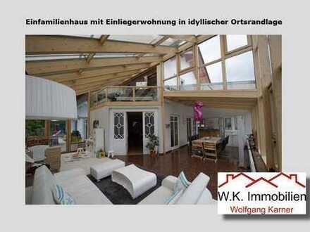 Einfamilienhaus mit Einliegerwohnung in idyllischer Ortsrandlage von Bissingen!