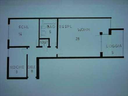 2 Zimmer, Kü., Bad, Balkon, TG, Stadtmitte