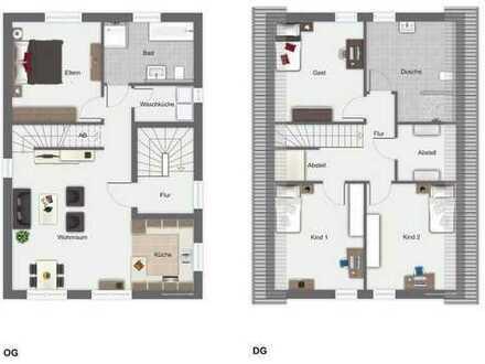 Projektiertes Zweifamilienhaus