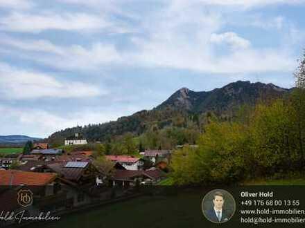 Landwirtschaftliches Grundstück mit traumhaftem Bergblick am Ortsrand von Sonthofen - Berghofen