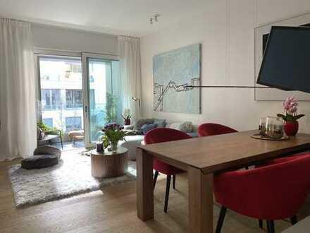 Möblierter Neubau-Erstbezug: Luxus 2 Zimmer Wohnung im Herzen der Stadt