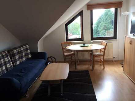 Stilvolle, voll möblierte und gepflegte 1-Zimmer-Dachgeschosswohnung in Mingolsheim