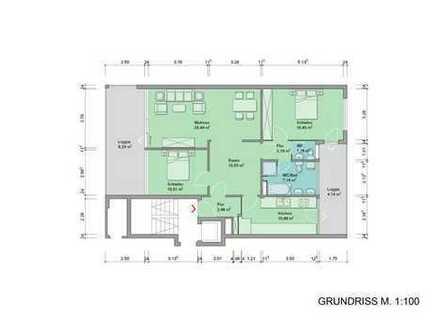 Provisionfrei!!! Hochwertige Wohnung mit zwei Balkonen in Toplage