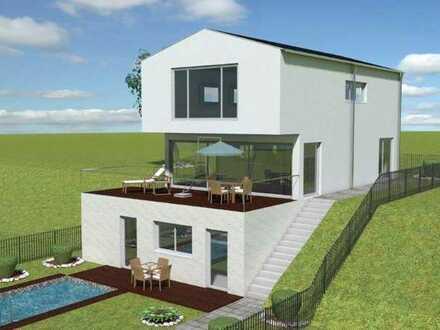 Architekten Einfamilienhaus in energieeffizienter ökologischer Holzbauweise KFW40