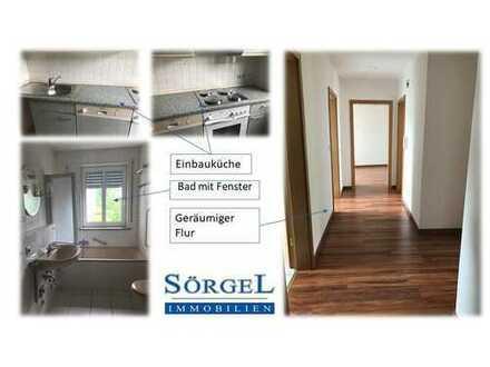**Top moderne 3-Zimmer-Wohnung mit Einbauküche und Tiefgaragenstellplatz in Hof Stadt**