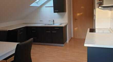Möblierte 2-Zimmer Single -Dachgeschosswohnung mit EBK in Aschaffenburg Nilkheim