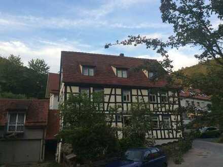 Wunderschöne 3-Zimmer-Dachgeschosswohnung im Fachwerkhaus mitten im Grün von Stettbach