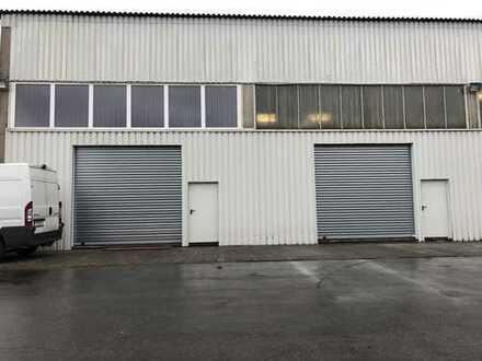 Halle Lagerhalle mit Rolltor / Büro / WC Hallenhöhe 7.3m