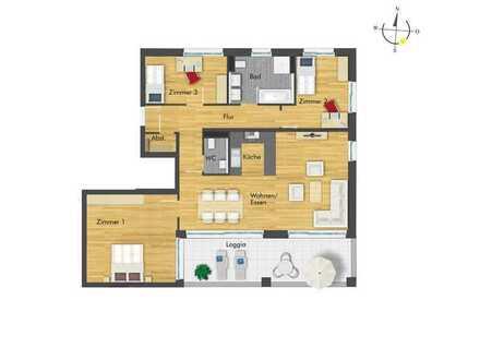 Attraktive 4-Zimmer-Wohnung mit erstklassiger Raumaufteilung