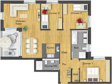 Herrliche 4-Zimmer-Wohnung mit Loggia im 2. Obergeschoss