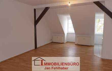 Große 1-Zimmer-Dachgeschosswohnung mit Einbauküche direkt im Zentrum