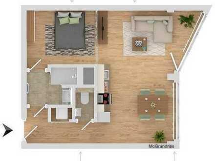 Wohntraum mit Dachterrasse, top-möbliert, modernes City-Domizil für Single!
