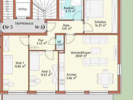 Neubauprojekt Harthausen - Haus 1 - Wohnung 6