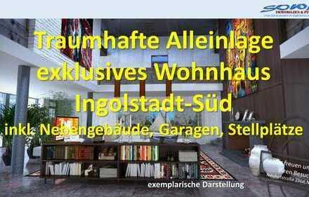 Traumhafte Alleinlage | Exklusives und schickes Wohnhaus mit Nebengebäuden und viel Platz | Von I...