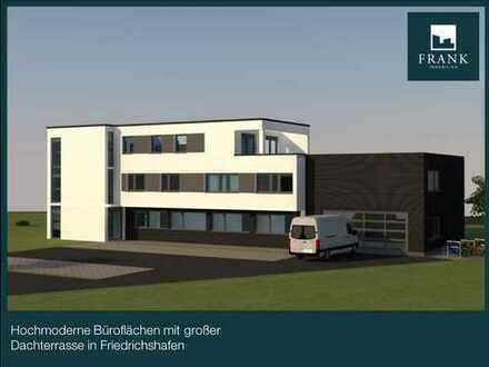 Hochmoderne, helle Büroflächen in Friedrichshafen (Neubau / Erstbezug) mit Dachterrasse