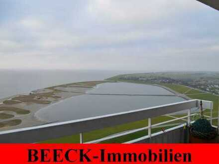 # Büsum/Lagune: Einmalige Meerblickwohnung in erster Seereihe!