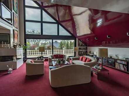 Bestlage! Außergewöhnliche 5-Zimmer-Penthouse-Wohnung mit großer Dachterrasse und 3 Garagen