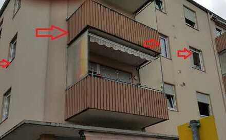 Stilvolle, sanierte 3-Zimmer-Wohnung mit Balkon und Einbauküche in Landau