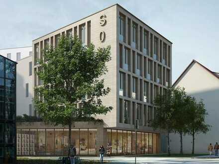 194 qm große Büro-/Praxisfläche in zentraler Stadtlage mit 5 Pkw-Stellplätze vor dem Haus
