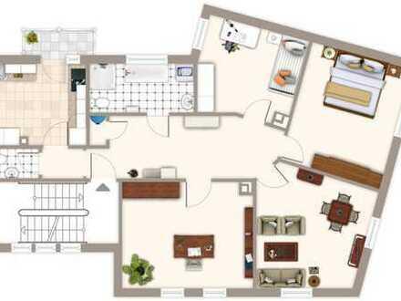 Größzügige, sanierte 4 Zimmer-Wohnung mit Terrasse Bahnhofsnähe in Mühlacker