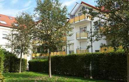 2 Zi.-GARTEN-Whg. + wohnl. HR (Tageslicht) - WEST/Terrasse, 2 Bäder, Parkett, FBH, EBK, Keller, TG
