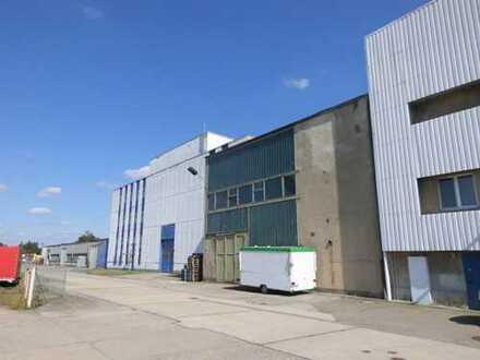 Hallenflächen f. Produktion+Lager sowie Büros und Freiflächen