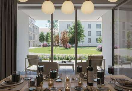 Rollstuhlgerechte 2-Zimmer-Neubau- Wohnung mit Garten!