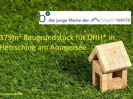 379m² Baugrundstück für Doppelhaushälfte in Herrsching am Ammersee