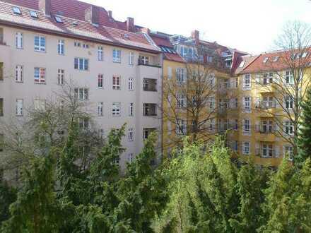 - Nähe Volkspark/ City-Altbauwohnung mit Lift, Stuck und Balkon -