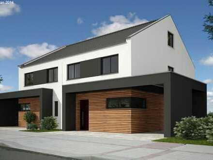 Top Lage! moderne Doppelhaushälfte, Raumaufteilung frei planbar! 30 m² Ausbaureserve