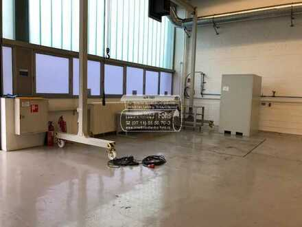Lager/Prod.-/Laborflächen 1.213m² + Büroflächen 482 m² Gesamt: 1.695 m² in 81249 München-Neuaubing