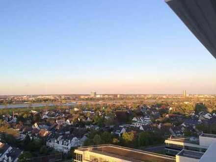 WHITE MAX Appartement mit großem Balkon + Rheinblick + offener Küche