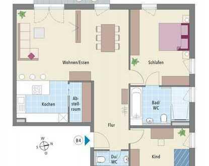 Ausblick inklusive: 3-Zimmer Wohnung mit Balkon in naturnaher Lage!