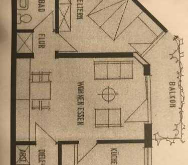 Vollständig renovierte 2-Zimmer-Wohnung mit Balkon und EBK in Worms