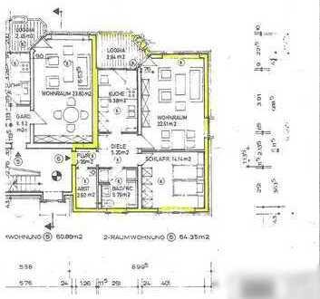 Sonnig 2-Zimmer-Wohnung mit Balkon und Einbauküche in Oldenburg (Oldenburg)-Bürgerfelde zu vermieten