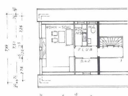 Gemütliche 1-Zimmer Dachgeschosswohnung am Waldrand