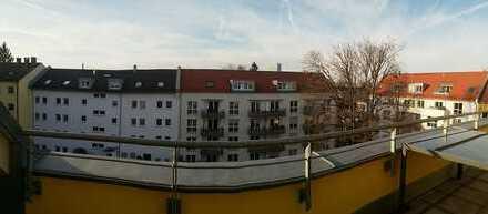 Möblierte 2-Zimmer Wohnung mit traumhafter Dachterrasse in Berg am Laim, München