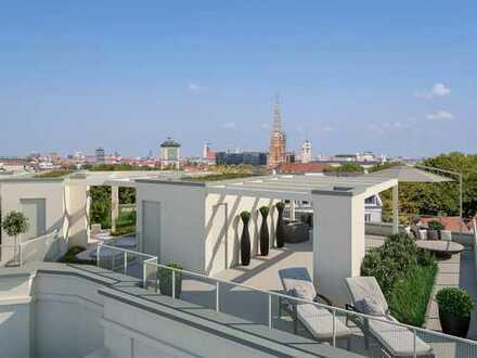 Wohnen auf höchstem Niveau! Erstklassige 4-Zimmer-Wohnung mit ca. 88 m² Dachterrasse in Haidhausen