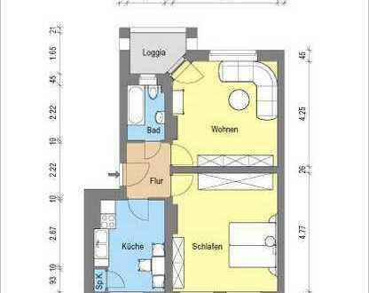 *gemütliche 2- Zimmerwohnung mit Balkon*