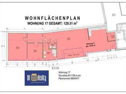 Hochwertige Penthousewohnung mit Loggia (Nr.17), ca.129,51 m2-zentrale und ruhige Lage - Arztpraxis