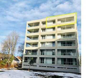 Neubau-Erstbezug: sonnige 3-Zi-Dachgeschosswohnung mit herrlicher S/O-Terasse in München Allach