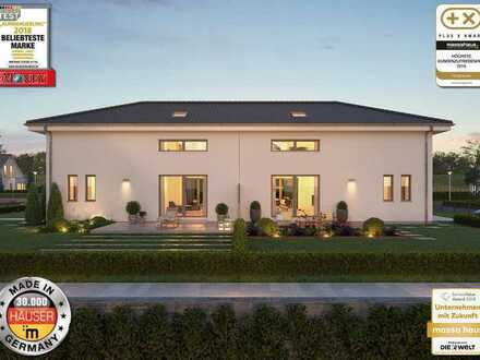 Bauen Sie eine Doppelhaushälfte in Bischweier. Neubaugebiet Winkelfeld bald verfügbar.